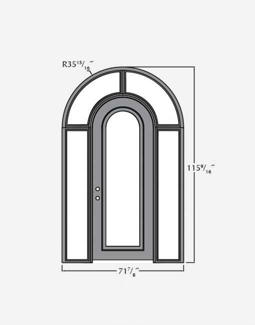 single surround steel door